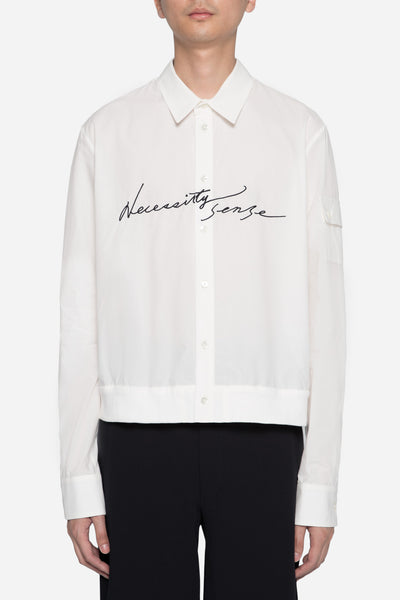 Dressundressed - Collaboration LS Layered Jacket Shirt White