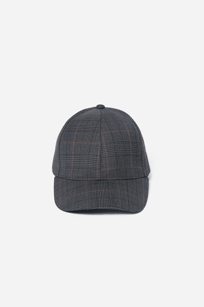 Interchangeable Sports Cap Grey Gold Check