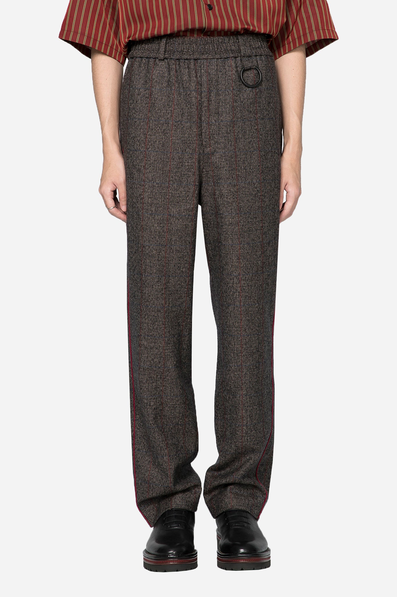 Mich Track Trouser Brown Red Check