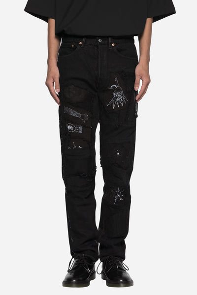 Blackfist - Blackfist x Elliott Evan Shredded Patchwork Jean Black
