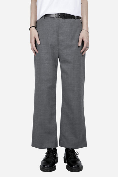 Matthew Miller - Cropped Wide Trouser Light Grey