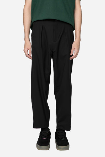 Second / Layer - Pleated Billowed Trouser Black
