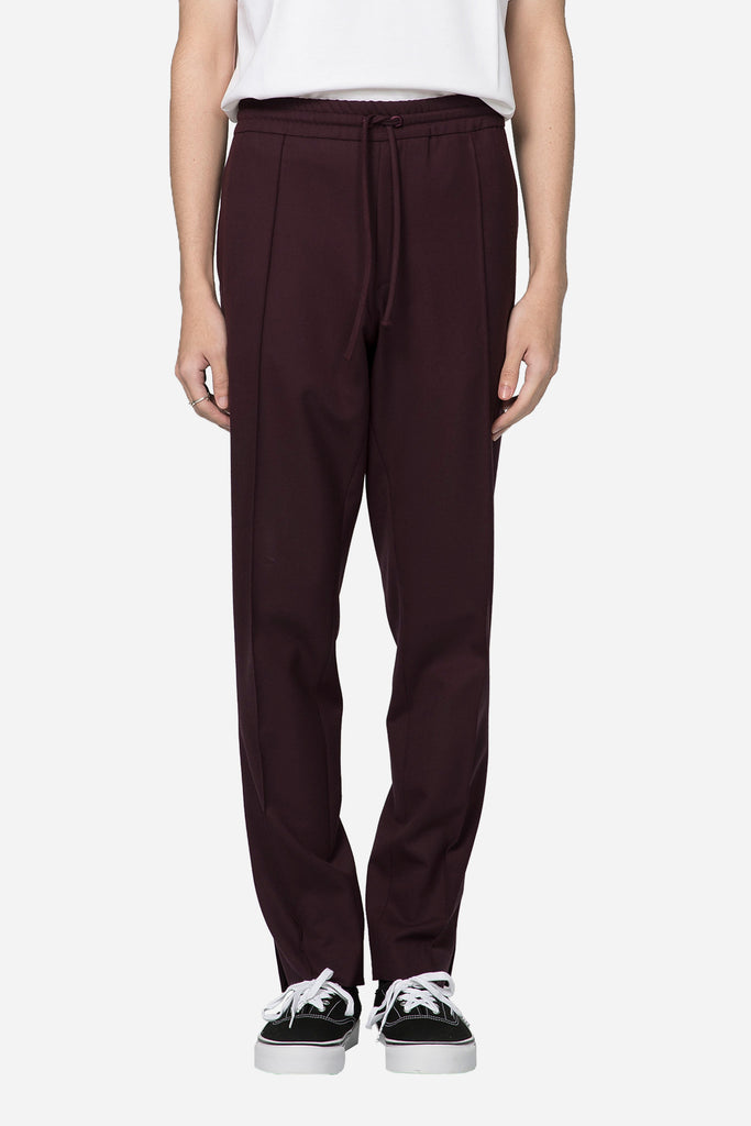 Open Outsid Vent Track Pant Bordeaux