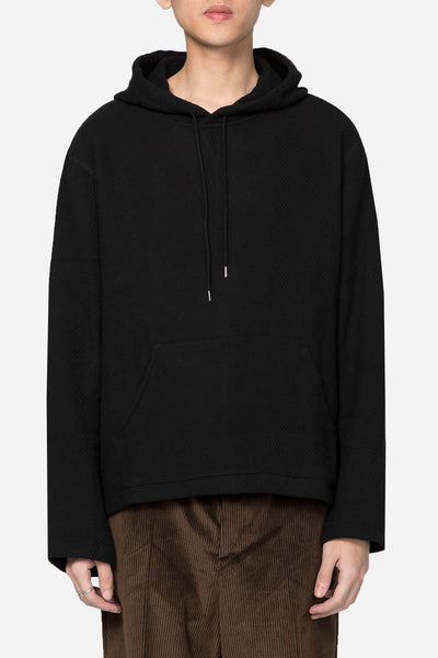Our Legacy - Flat Hoodie Black Chunky Waffle