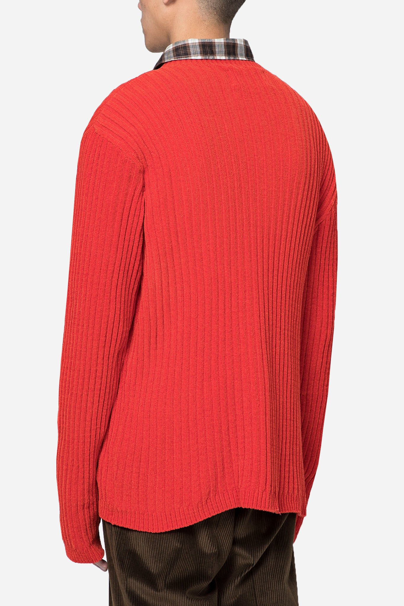 Popover Roundneck Red Chenille