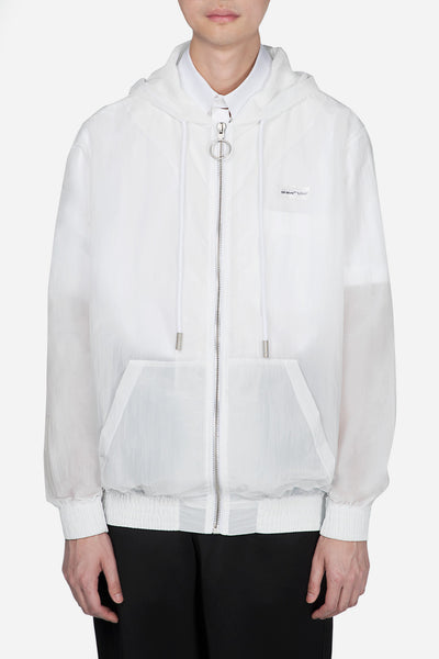 Off-White - Zip Hoodie Transparnet Off White