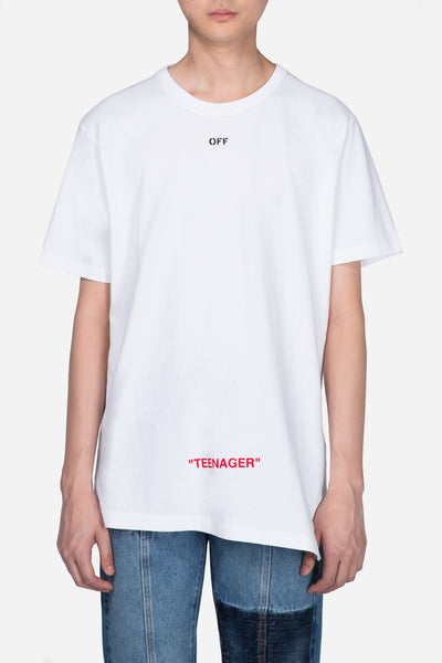 Off-White - Youth Spliced S/S Tee White