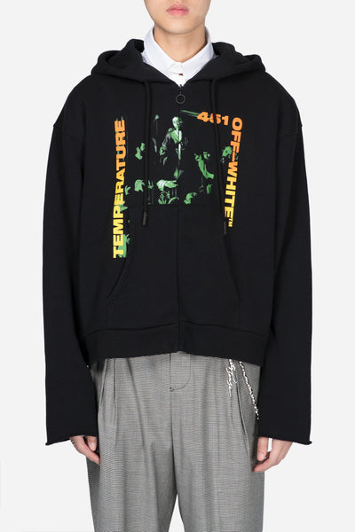 Off-White - Gradient Carav Crop Zip Hood Black