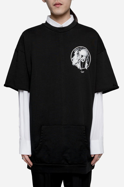 Komakino - Heavy Jersey Loose Fit Logo Tee Black
