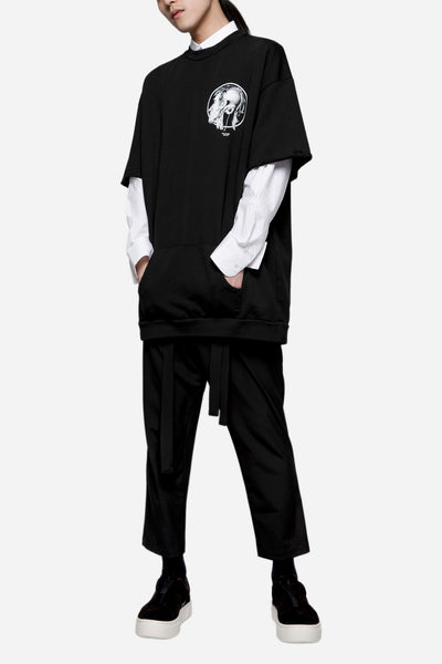 Heavy Jersey Loose Fit Logo Tee Black