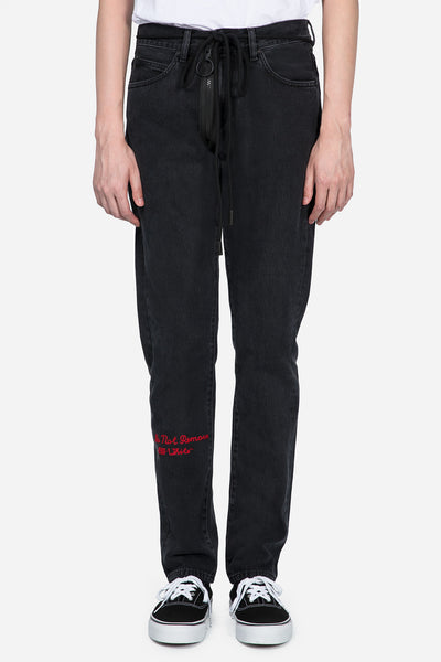 Off-White - Slim 5P Denim Black