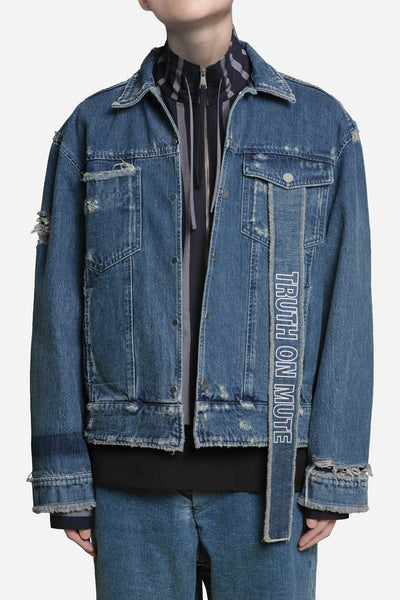 Seven Seconds of Memory - Luke Vicious x Lou Cropped Jacket Dry Velvet Wash