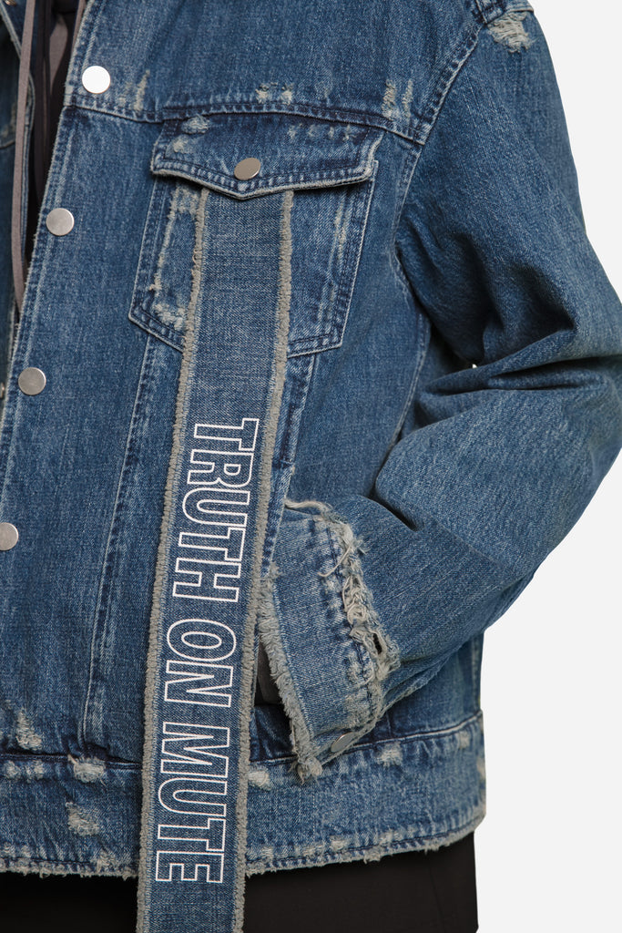 Luke Vicious x Lou Cropped Jacket Dry Velvet Wash