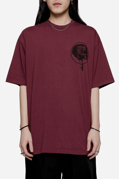 Komakino - Loose Fit Jersey Tee Burgundy