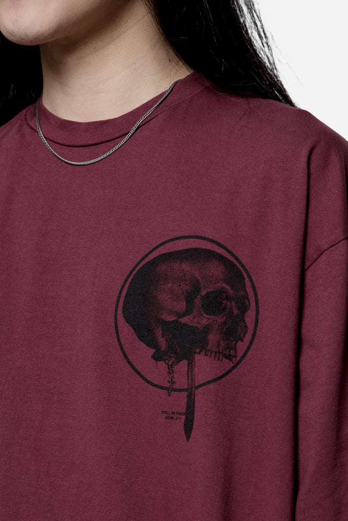 Loose Fit Jersey Tee Burgundy