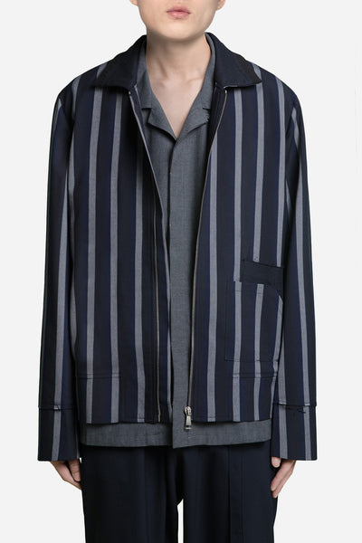 Seven Seconds of Memory - Seth Cropped Jacket Greystone / Nightfall Stripes