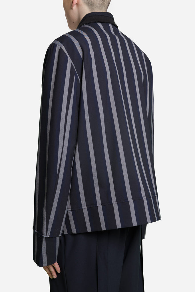 Seth Cropped Jacket Greystone / Nightfall Stripes