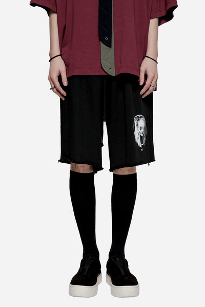 Komakino - Heavy Jersey Oversized Shorts Black