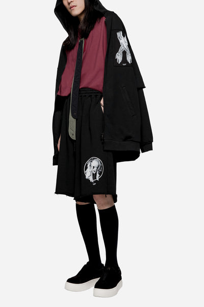 Heavy Jersey Oversized Shorts Black
