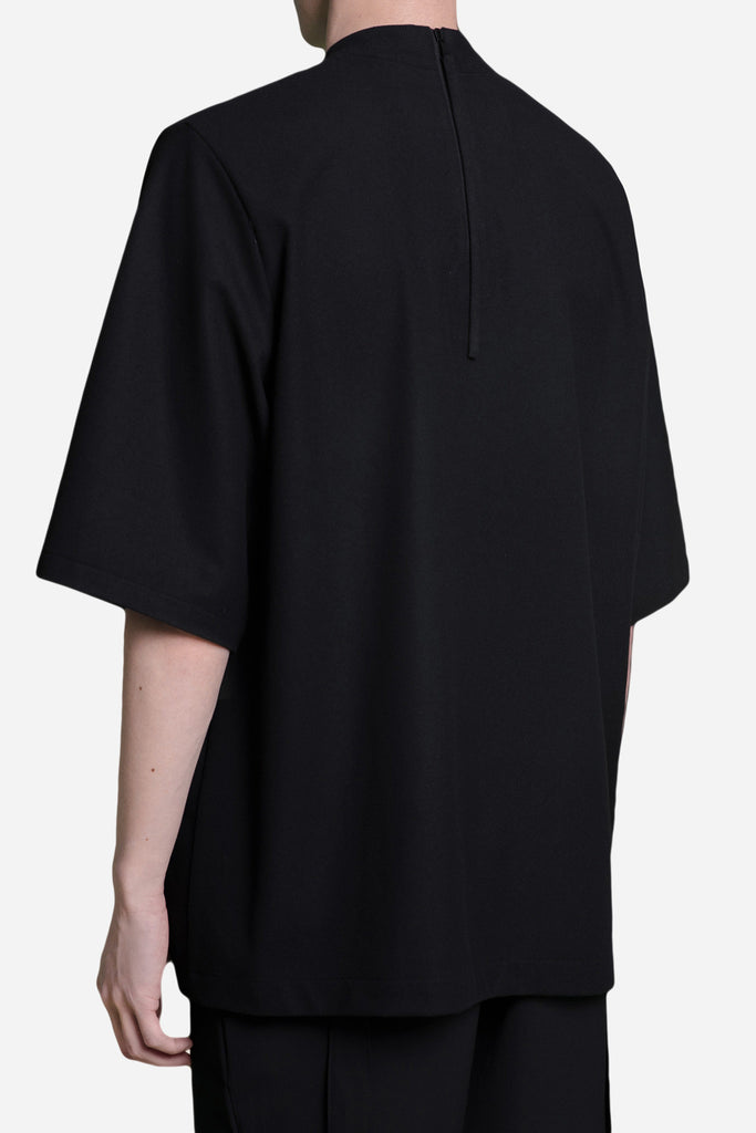 Jess Mock Patched Zip Tee Dry Onyx