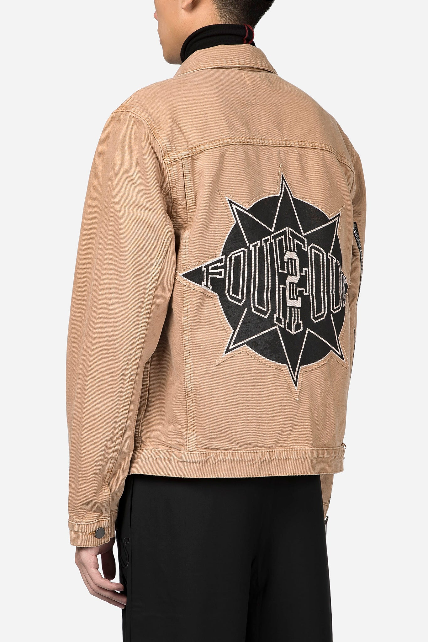 Starr Denim Trucker Jacket Camel Black Starr