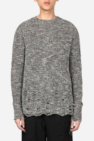 Song for the mute - Oversized Distressed Knit Melange