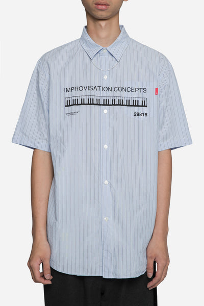 Undercover - Improvisation S/S Shirt Blue/Navy Stripes