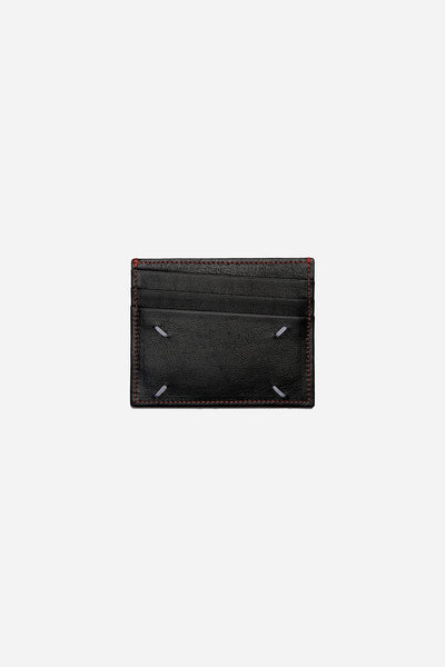 Maison Margiela - Black And Red Stiching Namecard Case