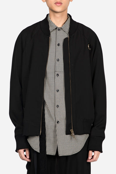 "Song for the mute - ""Mute""  Print Strap Bomber Black"