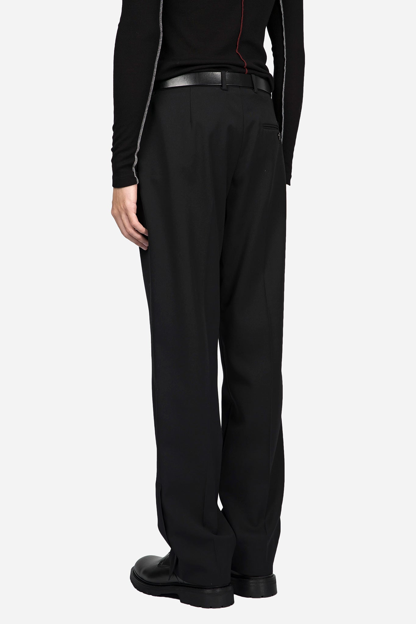 Wide Cropped Pant Black