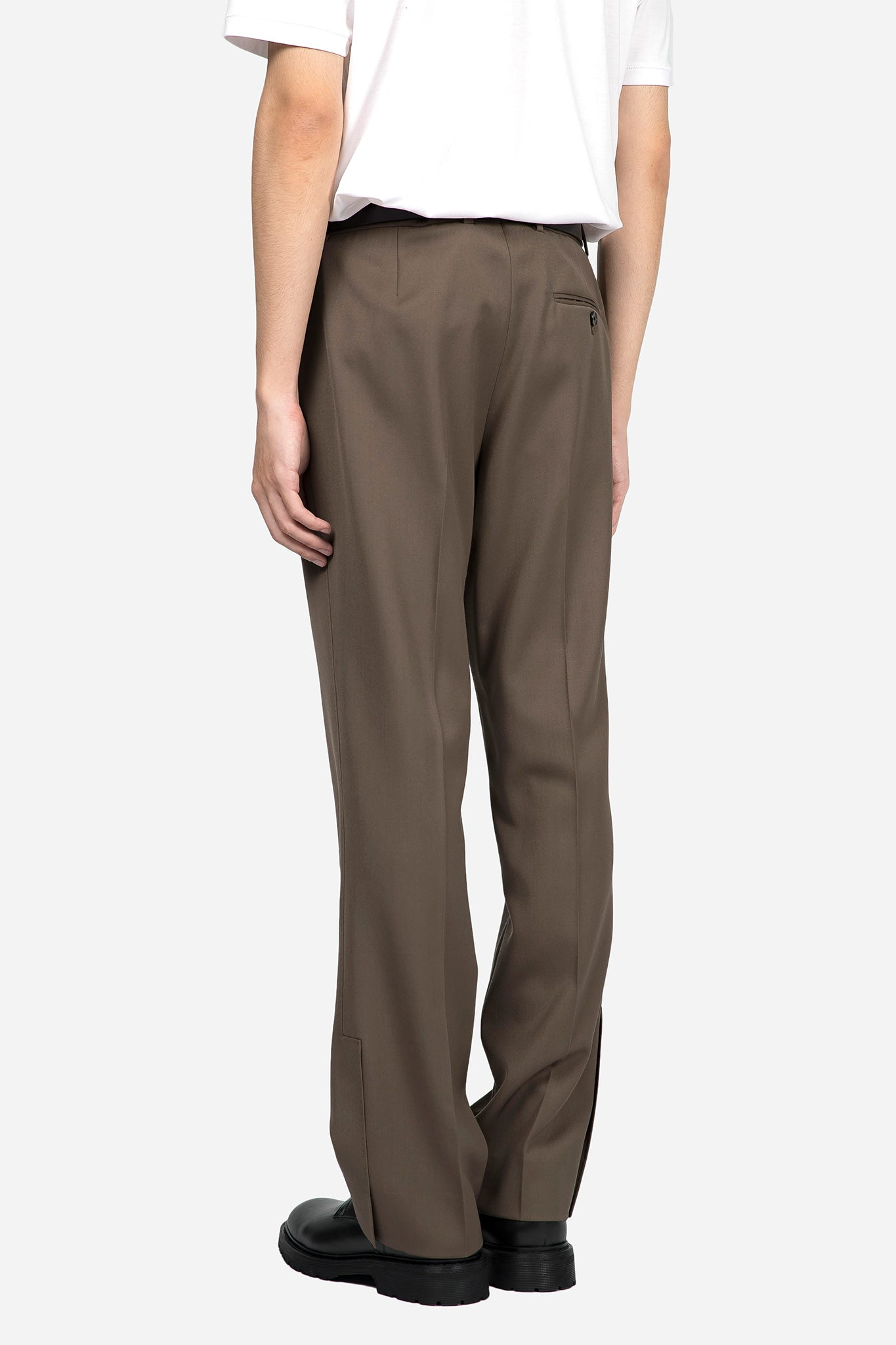 Wide Cropped Pants Noisette