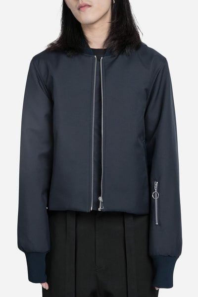 Agi & Sam - Cropped Bomber Jacket Navy
