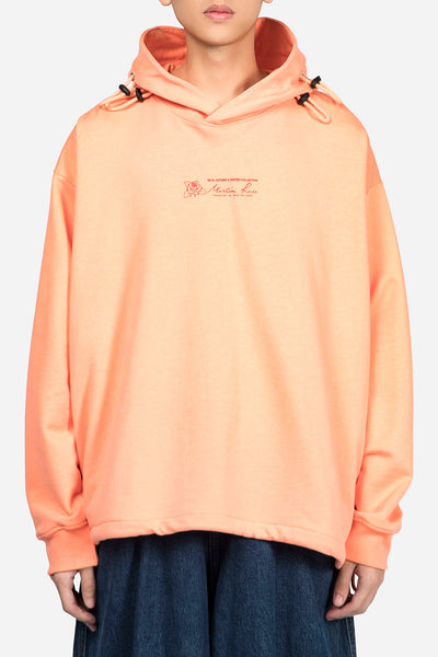Martine Rose - Triple Drawstring Logo Hoodie Peach