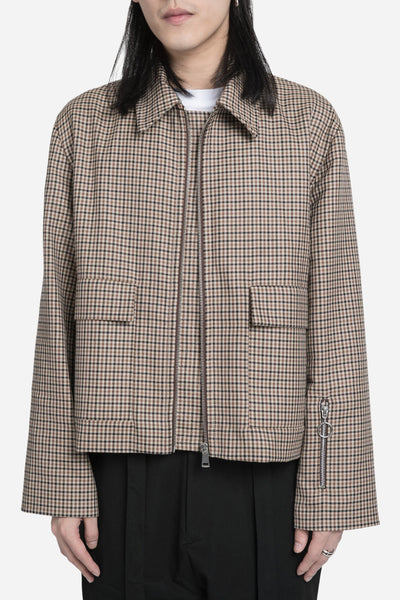Agi & Sam - Harrington Jacket Brown Check