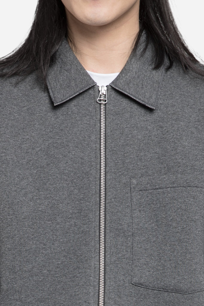 Raw Edge Blouson Coach Jacket Dark Grey