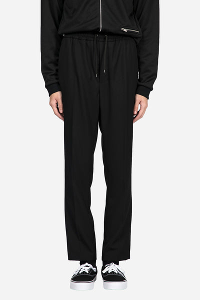AMI - Elasticized Waist Carrot Fit Trousers Black