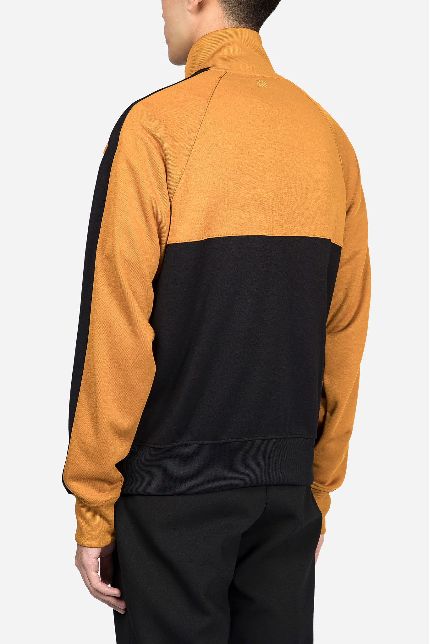 Two Tone Zipped Sweashirt Jaune Noir