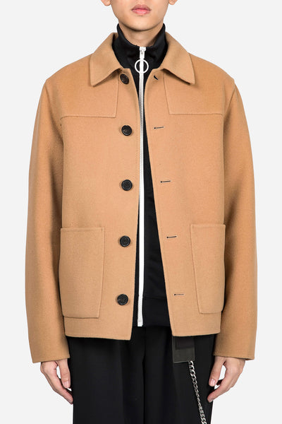 AMI - Unstruckted Buttonned Jacket Camel