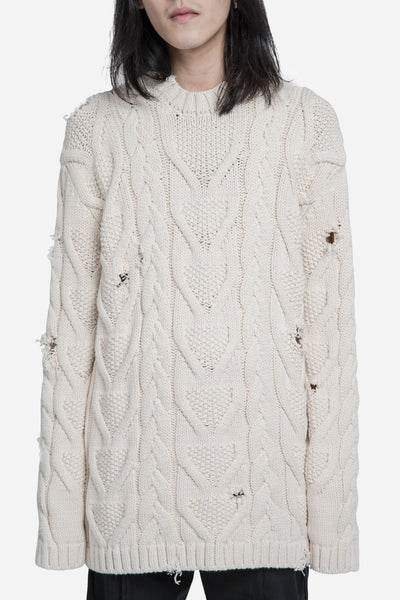 palm angels - Fisherman Sweater White