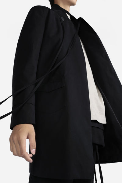 Alfred Bomber Coat Dry Onyx