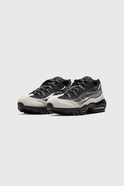 CDG Air Max 95 White/Black-dark Charcoal
