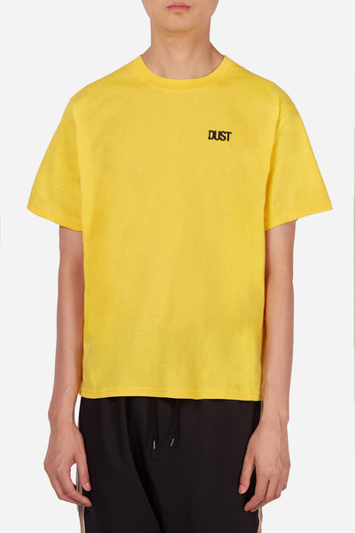 Dust - Style 2B Yellow Basic T-Shirt with Dust Logo Embroidery