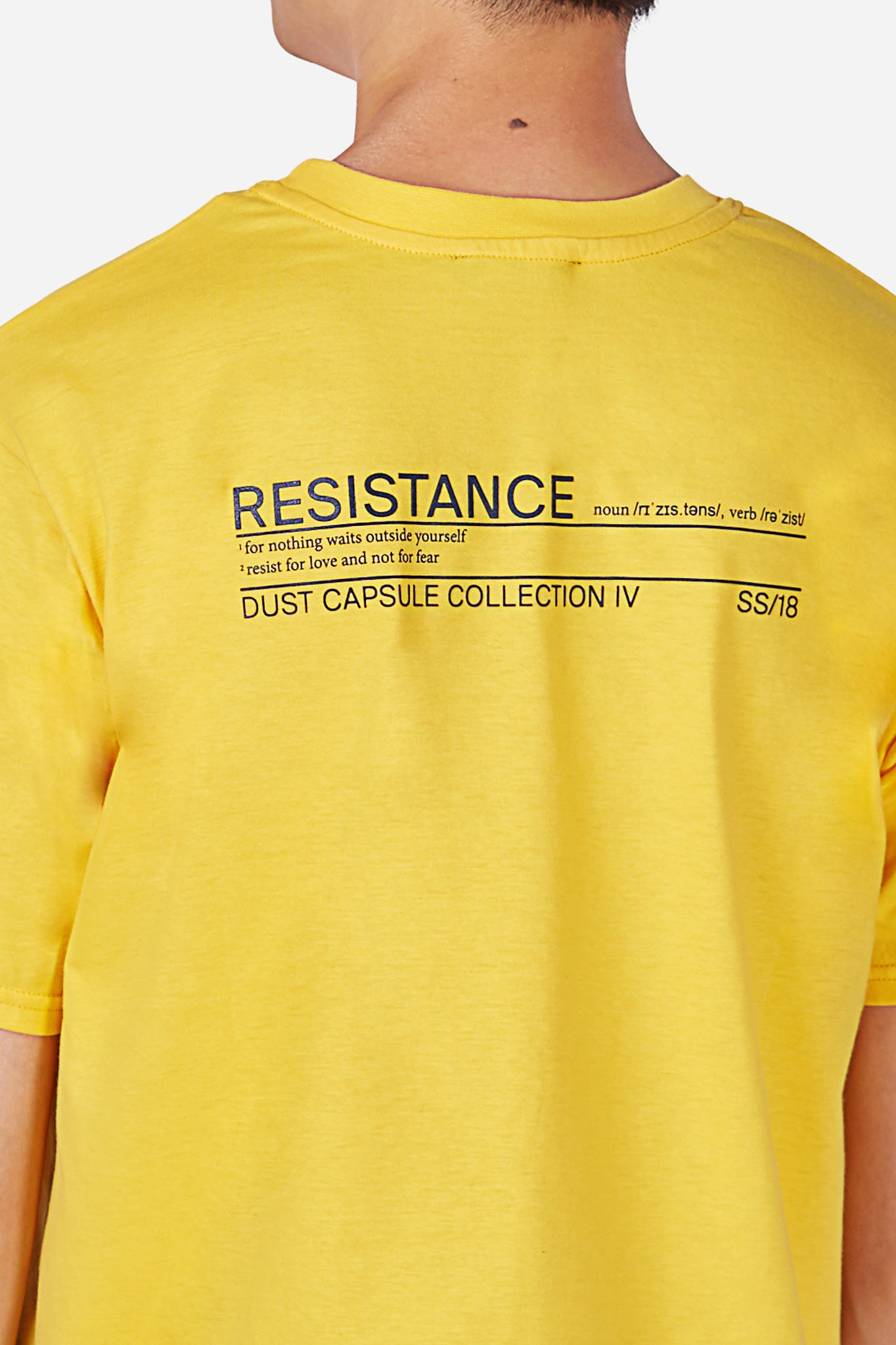 Style 2B Yellow Basic T-Shirt with Dust Logo Embroidery