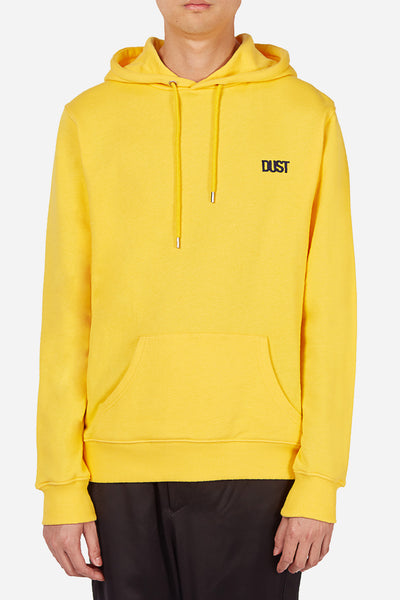 Dust - Style 4B Yellow Basic Hoodie with Dust Logo Embroidery