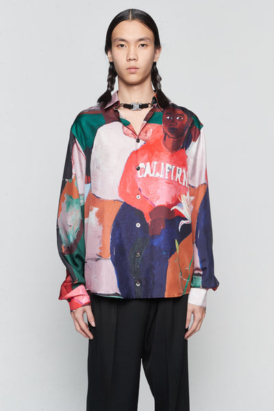 Etudes Studio - Portrait Silk California Shirt Red
