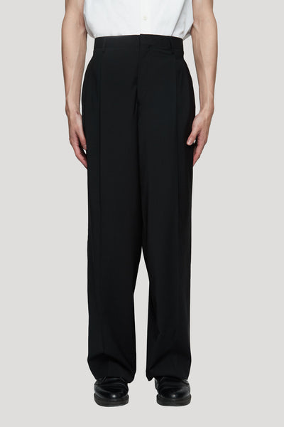 Etudes Studio - Regard Wool Black Wide Leg Trouser Black
