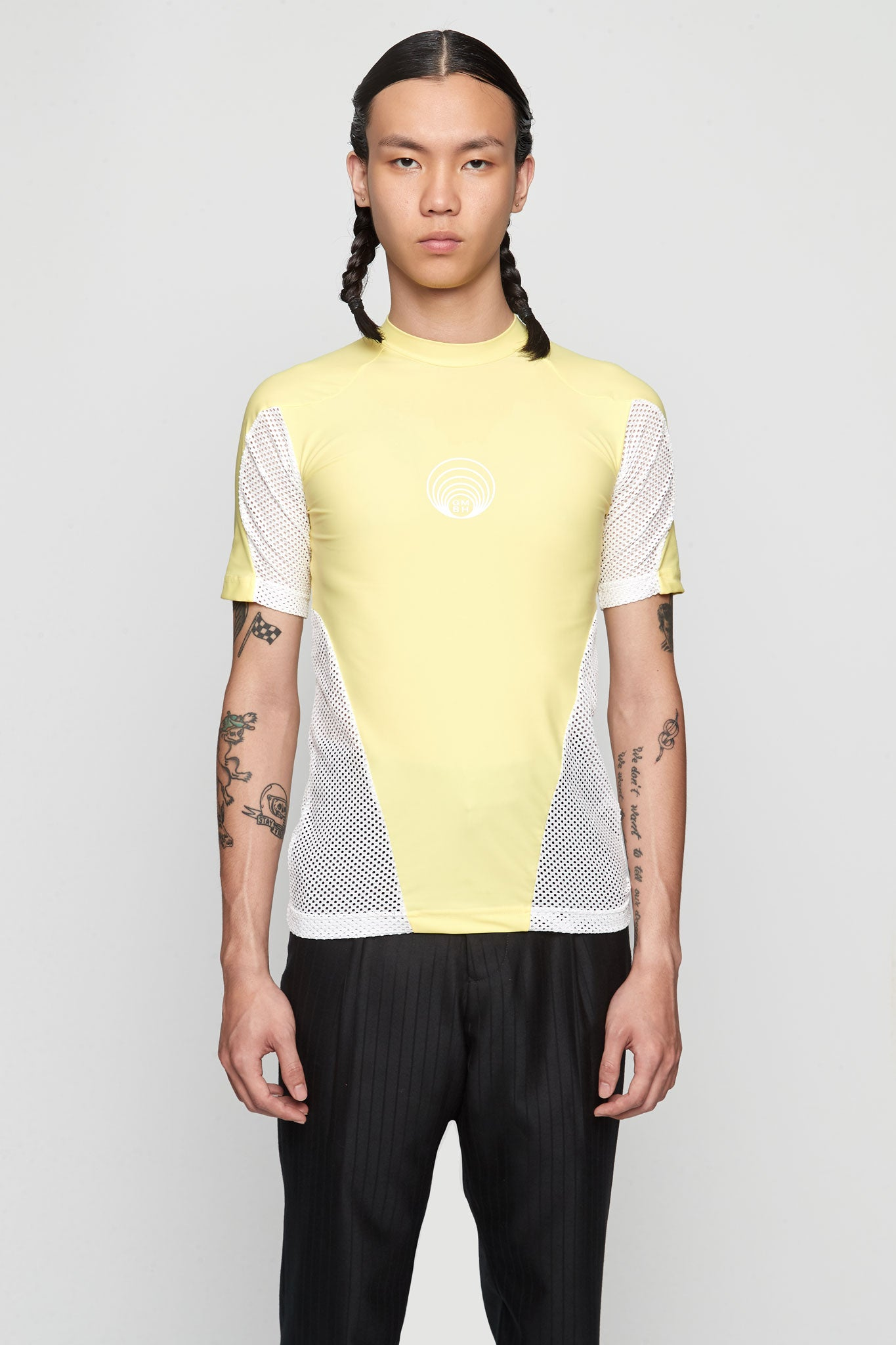 Eevan' Tight Tee With Mesh YELLOW