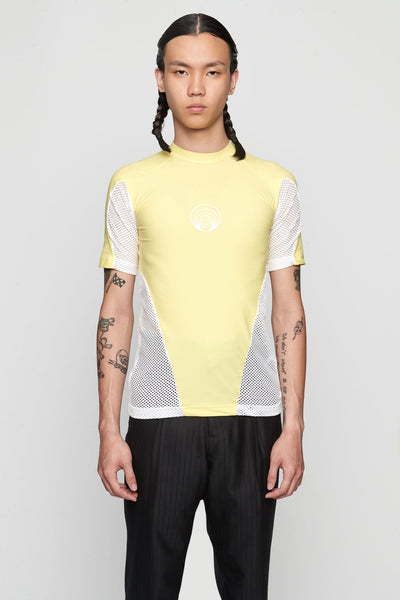 GmbH - Eevan' Tight Tee With Mesh YELLOW