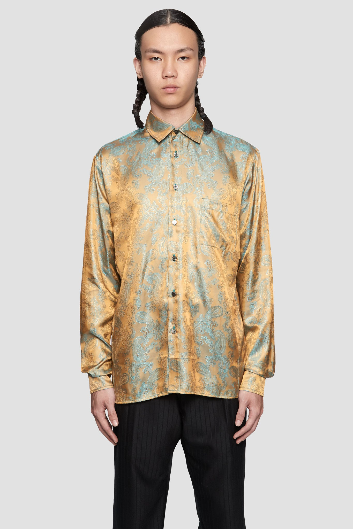 DIETER'  Paisley Shirts Gold/Turquoise