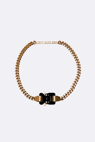 1017 Alyx 9sm - 1017 Alyx 9sm Buckle Necklace Gold